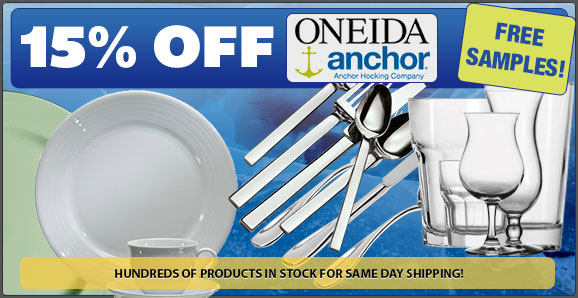 15% off all Anchor and Oneida!