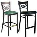 Cross and X Back Bar Stools