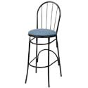 Spoke and Fan Back Bar Stools - Metal