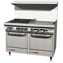 "48"" Commercial Gas Ranges with Griddle"