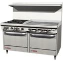 "60"" Commercial Gas Ranges with 48""-60"" Griddle"