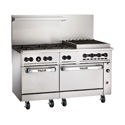 "60"" Commercial Gas Ranges with Charbroilers"