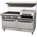 "60"" Commercial Gas Ranges with 24"" Griddle and 4-5 Burners"
