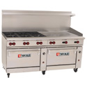 "72"" Commercial Gas Ranges with Griddle"