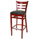 Ladder Back Wooden Bar Stools