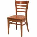 Ladder Back Wood Chairs