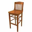 Slat Back Wood Bar Stools