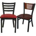 Ladder and Slat Back Chairs