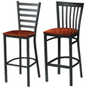 Ladder and Slat Back Bar Stools