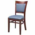 Solid Back Wood Chairs