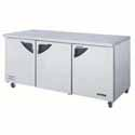 Undercounter Refrigerators and Freezers - 3 Door Units