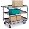 Rugged Duty Utility Carts - Stainless Steel