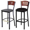 Circle and Wave Back Bar Stools