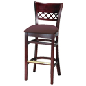 Open and Cross Back Bar Stools