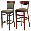 Solid and Oval Back Bar Stools