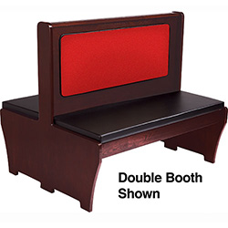 American tables and seating aws 48 basic booth single 23 for Affordable furniture greenbriar