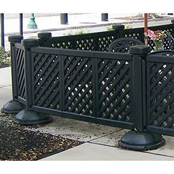 grosfillex us962117 portable patio fencing 2 panel section 29 7 8 h
