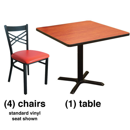 Combo deal kit x back chair combo deal 4 chairs with for 108 table seats how many