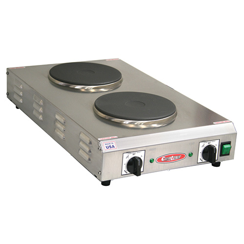 Countertop Stove : Allied Buying Corp CDR-2CFBCEN Electric Countertop Range - Two 7-1/2 ...