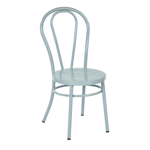 Office Star Products OD2918A2 P704 Odessa Metal Dining Chair Pastel Quarry