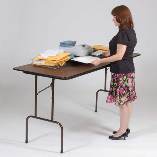 Central exclusive cfs3072px counter height folding table for Counter height folding table