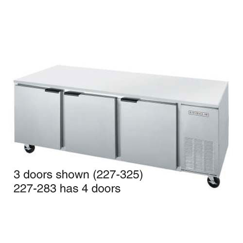 Beverage Air Ucr119a 09 Undercounter Refrigerator 4 Solid Doors 119 W Stainless Steel Interior