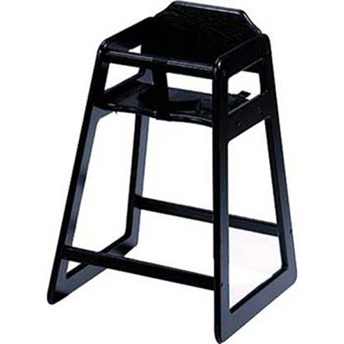 Old Dominion S 4 Wooden High Chair Solid Oak Black Finish