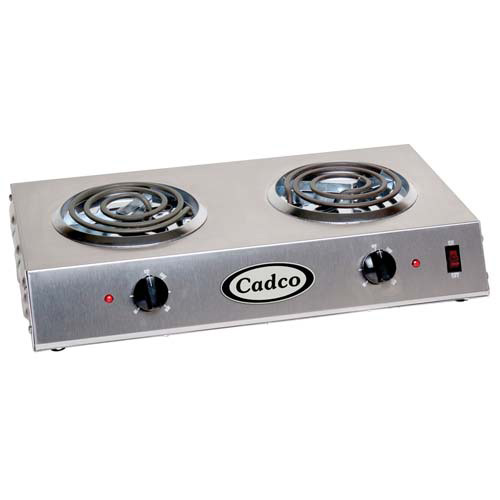 Cadco CDR1T Countertop Electric Range - (2) 6