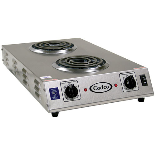 Countertop Electric Stove Top Burner : Cadco CDR-1TFB Countertop Electric Range - (2) 6