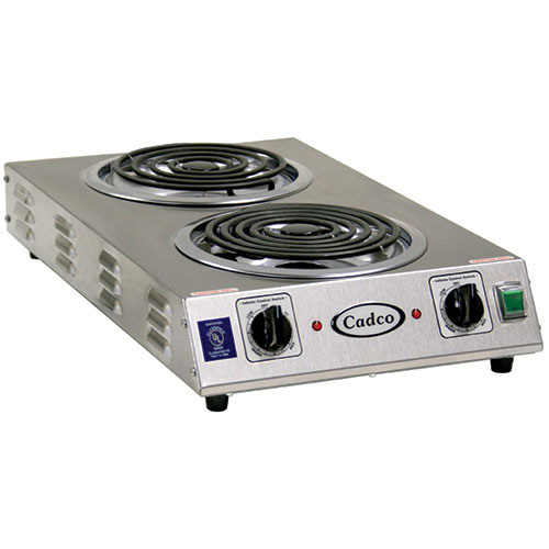 Countertop Electric Stove Top Burner : Cadco CDR-2TFB Countertop Electric Range - (2) 8