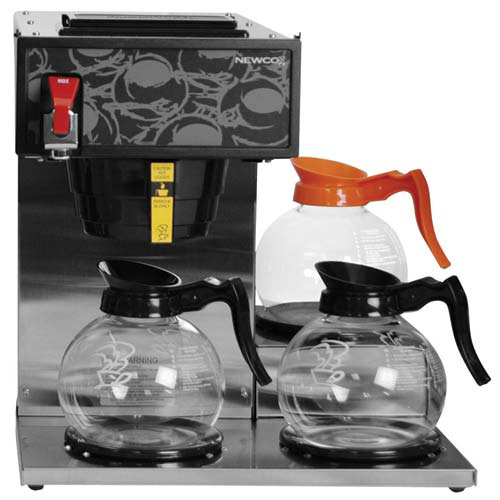 Newco Industrial Coffee Maker : Newco Automatic Commercial Coffee Brewer with Hot Water Faucet, Low Profile