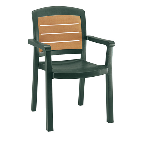grosfillex us453067 aquaba outdoor armchair resin stack chair