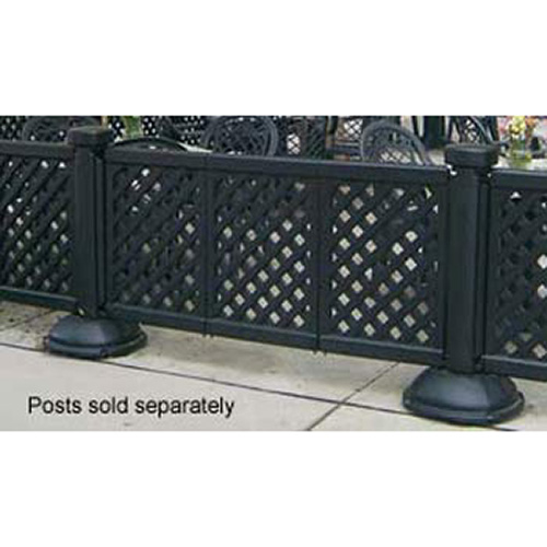 ... Grosfillex Portable Patio Fencing Three Panel Section Black ...