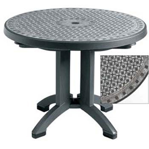 Grosfillex US Toledo Outdoor Dining Folding Table 38 Round