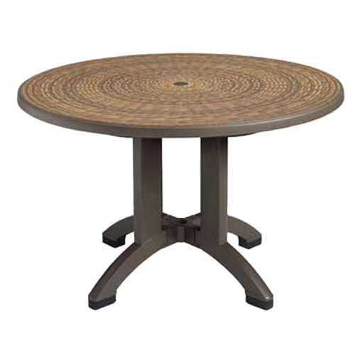 Grosfillex us715037 grosfillex us715037 havana outdoor table for Table exterieur grosfillex