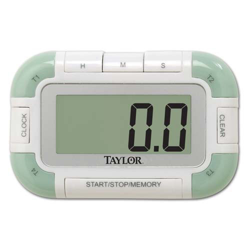 Taylor 5862 Digital Kitchen Timer With Clock 100 Hour