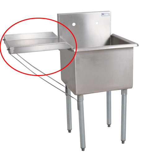 Plastic Utility Sink With Drainboard : ... Detachable Drainboard For 18 quot Wx21 quot D Bowl Size Budget Sink