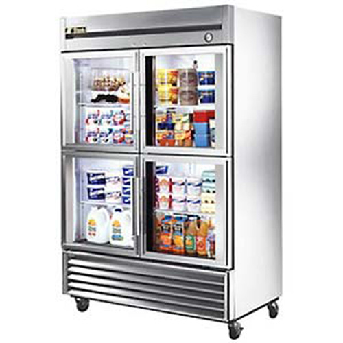 ... 49G-4 Glass Door Refrigerator - Half Doors Four Doors, 49 Cu. Ft