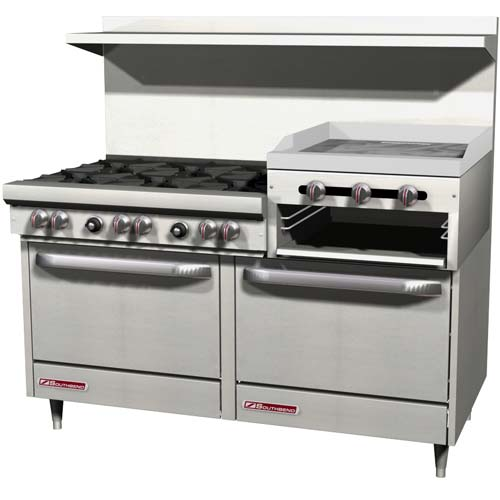 Industrial Kitchen Ovens For Sale: Southbend 4601DD2RR-LP Commercial Gas Range
