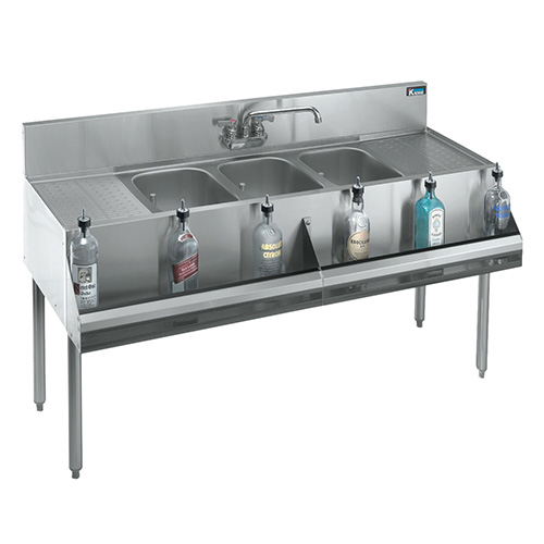 ... Metal KR21-83C Royal 2100 Series Underbar Sink Unit 3-Compartment
