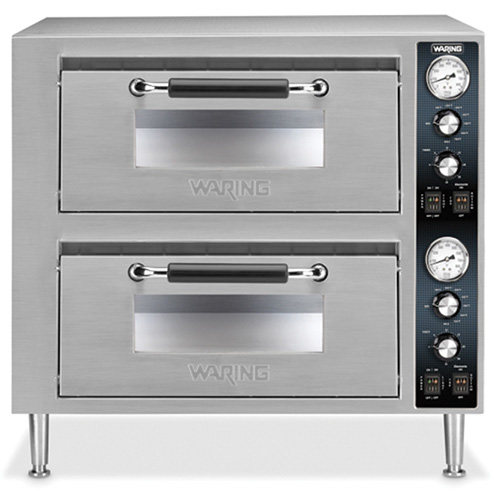 Countertop Pizza Ovens For Sale : Waring WPO750 Double Deck Countertop Pizza Oven, Two Doors