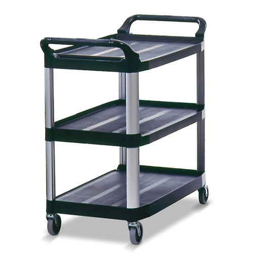 rubbermaid fg409100 kitchen utility cart plastic no end