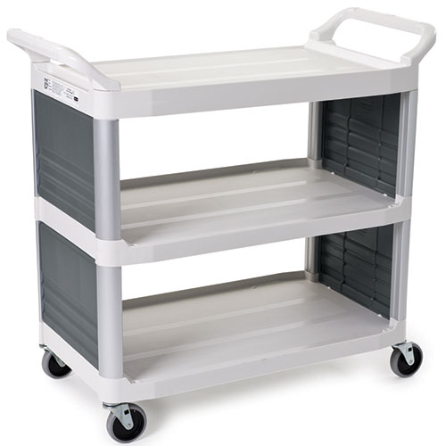 rubbermaid fg409200owht kitchen utility cart plastic