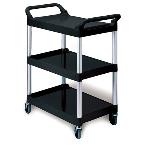 Rubbermaid FG342488BLA Rubbermaid FG342488 Kitchen Utility Cart 3 Shelves