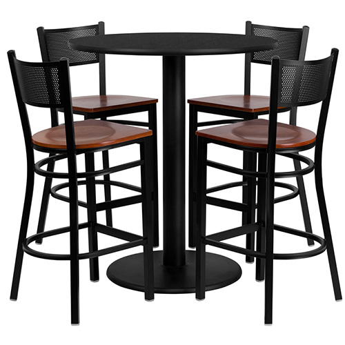 flash furniture md 0018 gg 36 39 39 round black laminate table set with 4