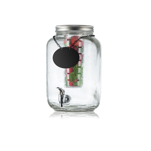 Tablecraft Bdg3000 Mason Jar Glass Beverage Dispenser W