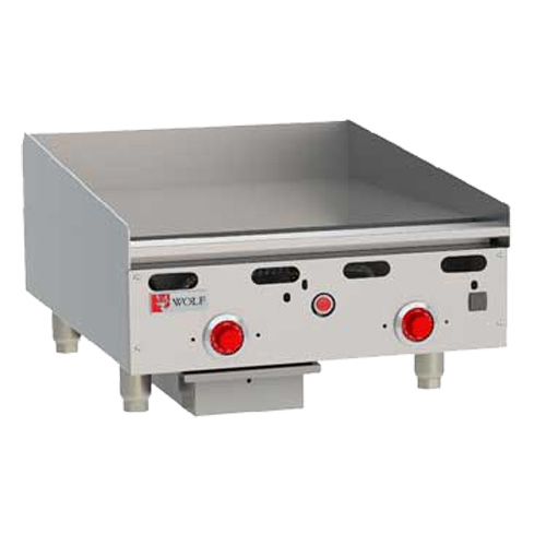 Wolf ASA2430 Heavy Duty Griddle, Countertop, Gas, 24