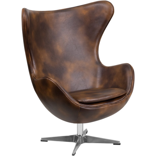 Flash Furniture ZB-21-GG Bomber Jacket Leather Egg Chair with Tilt