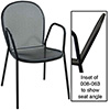 "Bistro Chair with Arms, 17"" Seat Height"