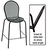 "Bistro Bar Stool, No Arms, 29"" Seat Height"